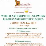 EUROPEAN NATUROPATHIC CONGRESS OF ROME 19-20 JUNE 2015